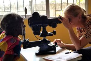 Volunteering at Healthy Women Healthy Liberia Clinic